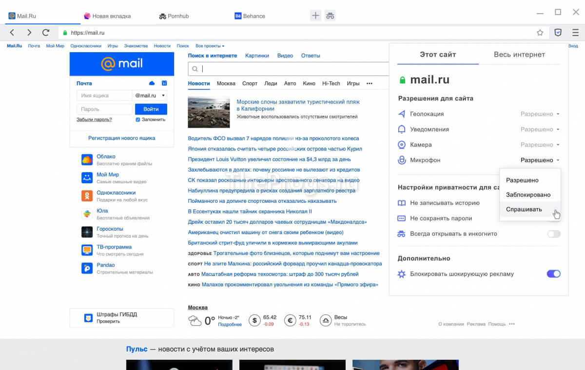 АТОМ браузер скриншот (фото)