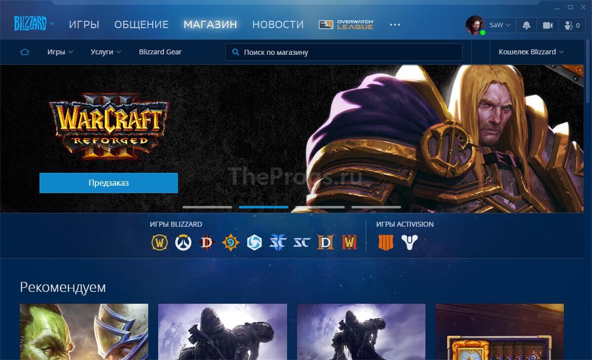 Blizzard Battle.net - Магазин (фото)