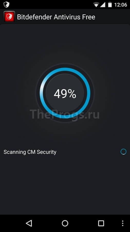 Bitdefender Antivirus Android interface фото