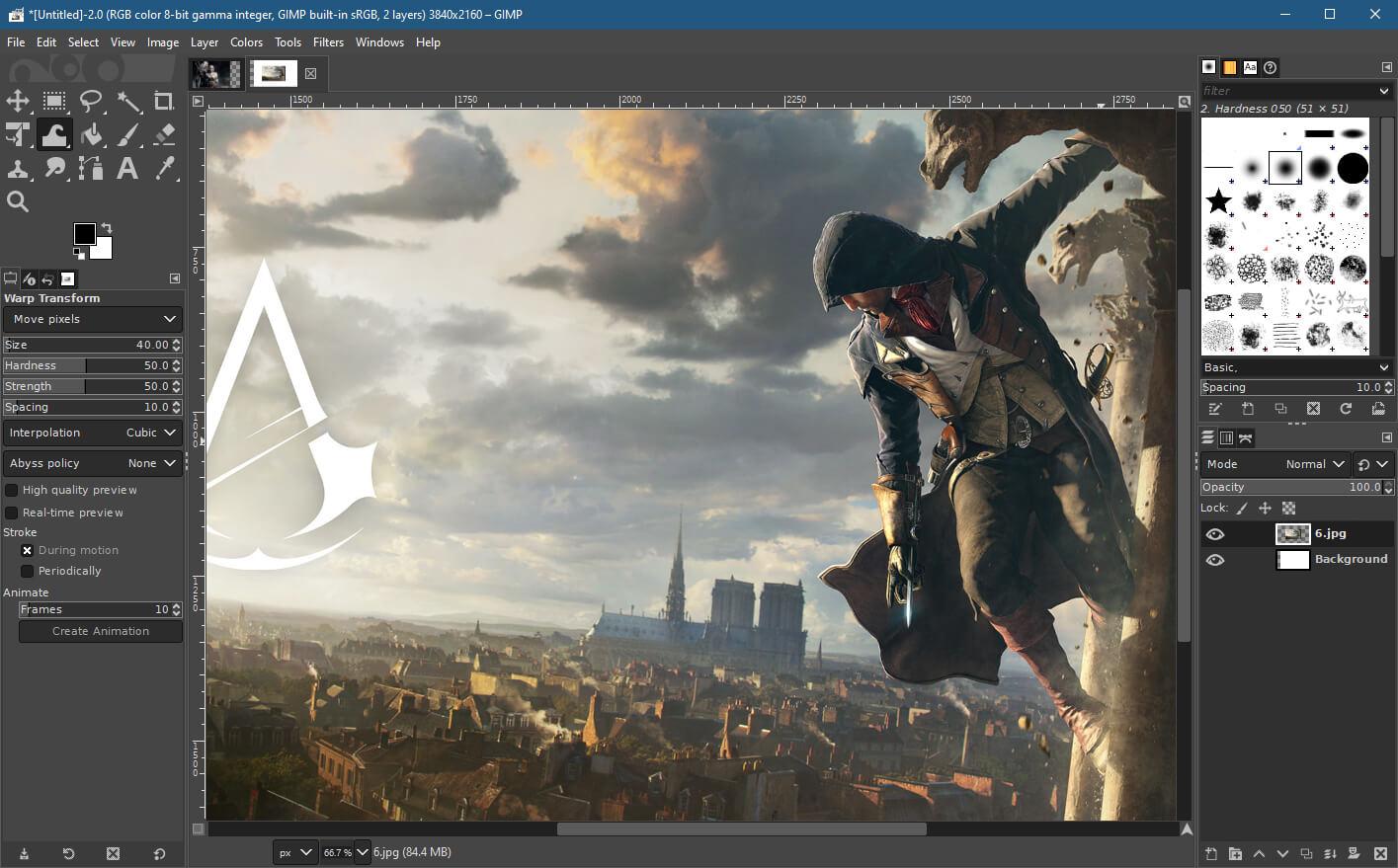 Gimp скриншот (фото)