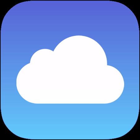 iCloud Apple логотип (фото)