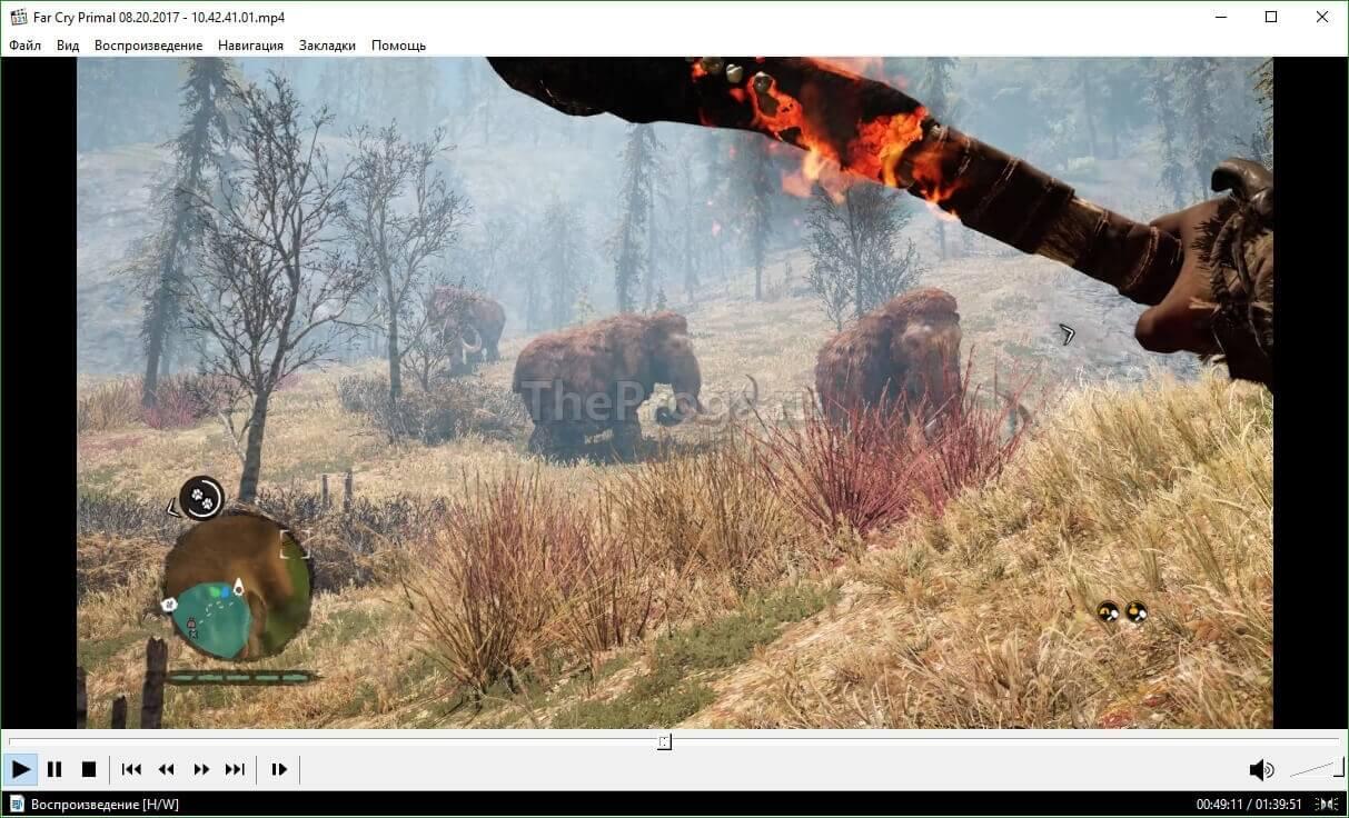 Media Player Classic вид интерфейса программы (фото)