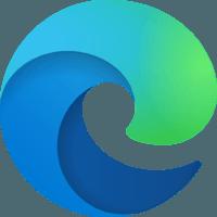 Microsoft Edge Браузер (программа, логотип) TheProgs.ru