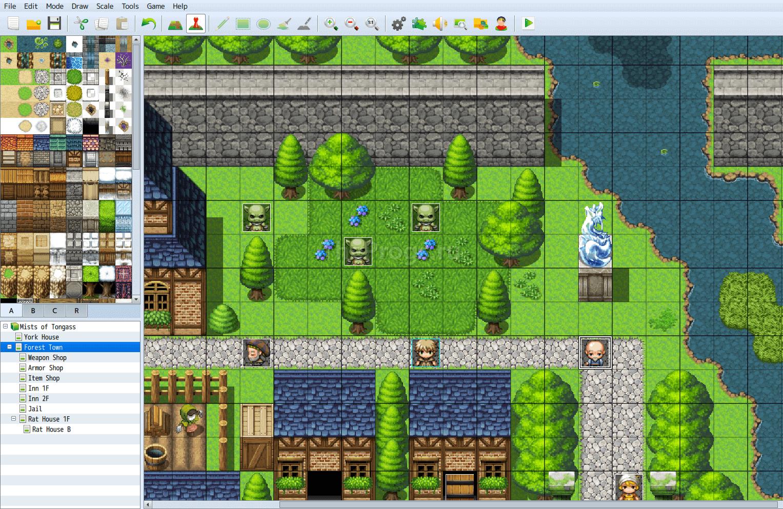 RPG Maker MV - интерфейс (фото)