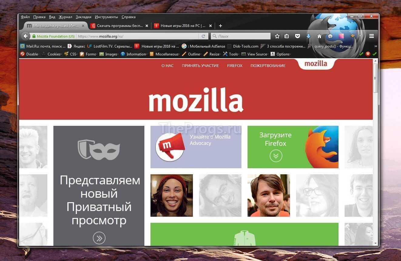 Mozilla Firefox скриншот (фото)