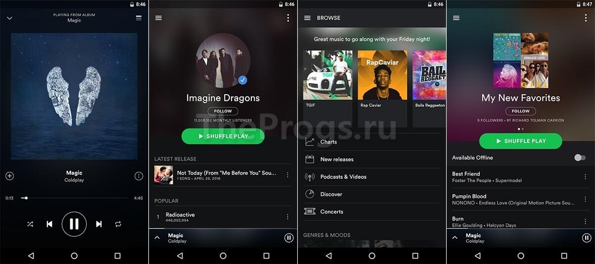 Spotify на Android устройствах фото
