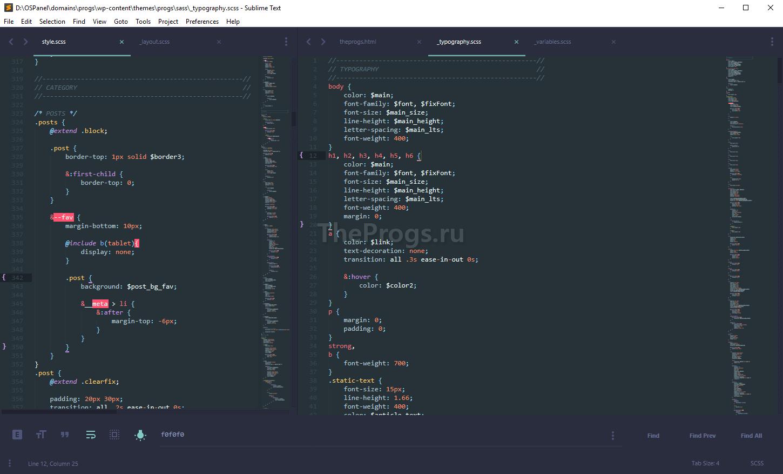 Sublime Text 3 скриншот (фото)