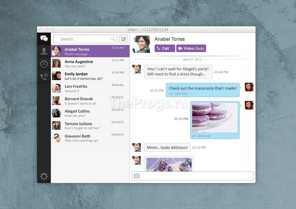 Viber interface